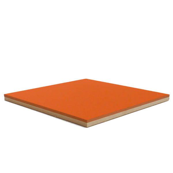 Forbo Tangerine Zest 2211 Bulletin Board cork on fiberboard backer
