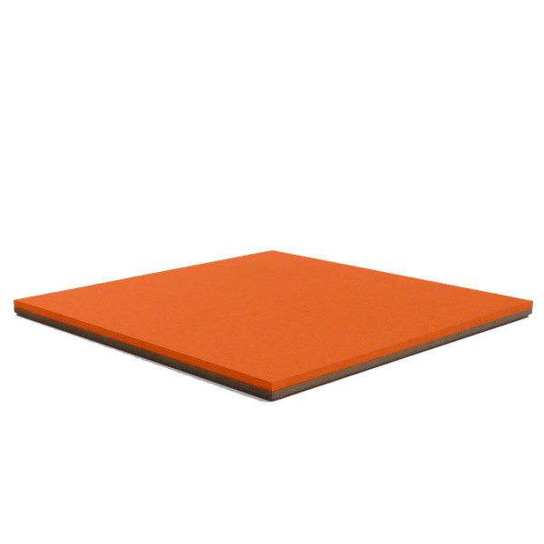 Forbo Tangerine Zest 2211 Bulletin Board cork on hardboard backer
