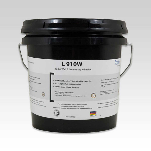 Image of Forbo L910W adhesive for direct application of cork sheets in vertical applications