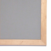 Image of Corner detail for Oyster Shell Tackboard with Maple Frame
