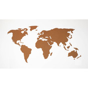 World Map Cork Tackboard